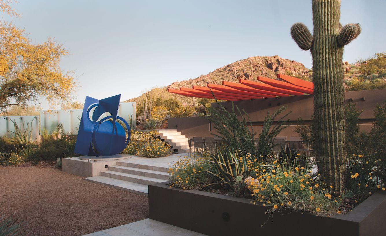 Jardin arty en Arizona